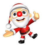 3D Santa mascot the left hand guides and the right hand best ges Stock Photos