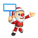3D Santa mascot the left hand guides and the right hand is holdi Stock Images