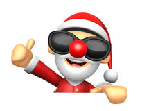 3D Santa Mascot the right hand best gesture and left hand is hol Stock Photo