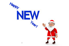 3d santa new year concept Stock Images