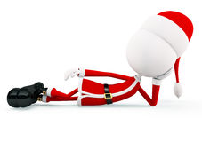 3d Santa para o Natal Foto de Stock Royalty Free