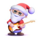 3d Santa plays electric guitar Royalty Free Stock Images