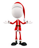 3d Santa with presentation pose Stock Photography