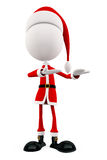 3d Santa with presentation pose Royalty Free Stock Photos