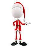 3d Santa with presentation pose Royalty Free Stock Photography