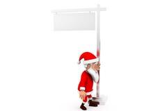 3d santa road board concept Royalty Free Stock Photo