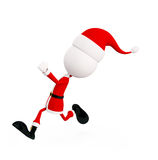 3d Santa is running Stock Photography