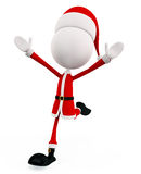 3d santa for running pose Royalty Free Stock Photos