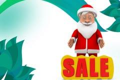 3d santa sale  illustration Stock Photo
