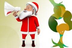 3d santa speaker  illustration Royalty Free Stock Images