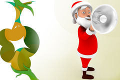 3d santa speaker  illustration Royalty Free Stock Photo