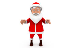 3d santa stand happy concept Royalty Free Stock Photo