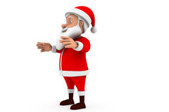 3d santa stand happy concept Royalty Free Stock Photos