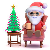 3d Santa takes a break Royalty Free Stock Images