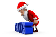 3d santa thanks concept Royalty Free Stock Images
