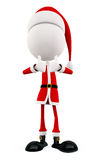 3d Santa with thumb up pose Stock Photography
