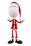 3d Santa with thumb up pose Royalty Free Stock Photo