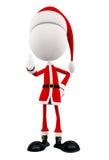 3d Santa with thumb up pose Stock Photos