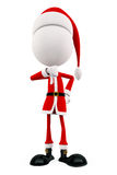 3d Santa with thumbs pose Stock Photo