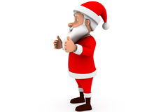 3d santa thumbs up concept Royalty Free Stock Photography