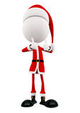 3d Santa with thumbs up pose Royalty Free Stock Images