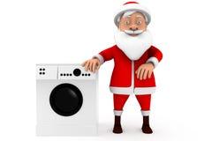 3d santa washing machine concept Stock Images