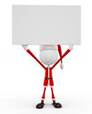 3d Santa with white board Royalty Free Stock Photos