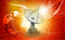 3d Satellite dish transmission data Stock Photo