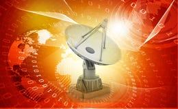 3d Satellite dish transmission data Stock Photo