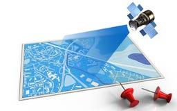 3d satellite Stock Image