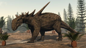 3D Sauropeltadinosaurus - geef terug Royalty-vrije Stock Afbeeldingen