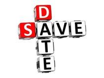 3D Save Daktylowego Crossword Ilustracja Wektor