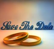 3D-Save la date Image libre de droits