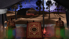 3d scène voor Islamitische gebeurtenissen Royalty-vrije Stock Foto's