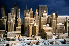 3d scale model of a city Stock Photography