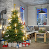 3d - scandinavian flat - christmas Stock Images
