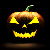3d scary Halloween pumpkin Stock Photography