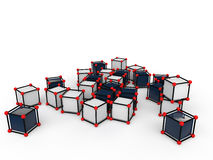 3d scattered futuristic cubes Stock Images