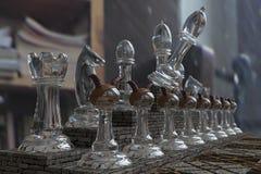 3D schaak, samenstelling, gameplay, de partij Stock Foto