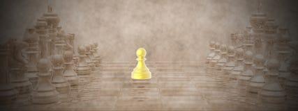 3D schaakbord - geef terug Stock Fotografie