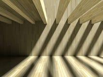 3D schaduweffect op muur & vloer Royalty-vrije Stock Foto's