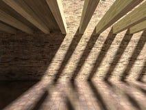 3D schaduweffect op muur & vloer Royalty-vrije Stock Fotografie