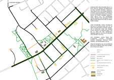 2d scheme of city map. Small city regeneration, 2d scheme Royalty Free Stock Image