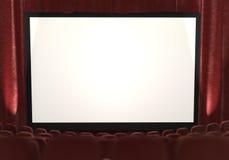3d: Schermo di film con i riflettori da parteggiare Fotografie Stock Libere da Diritti
