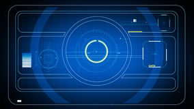 2d schermo di HUD di SCIFI Immagini Stock