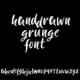 3d Schetsdoopvont Kalligrafie het van letters voorzien Alfabet in kleine letters Vector illustratie Royalty-vrije Illustratie