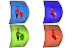 3d school boy icon Royalty Free Stock Photography