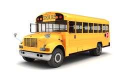 3d school bus Stock Photography
