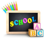 3d school concept Stock Images