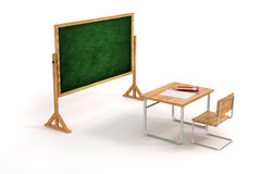3d school desk and chair Stock Images